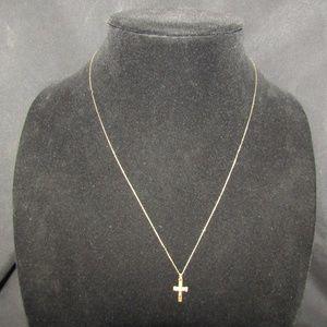 10kt chain & 14kt gf crucifex necklace